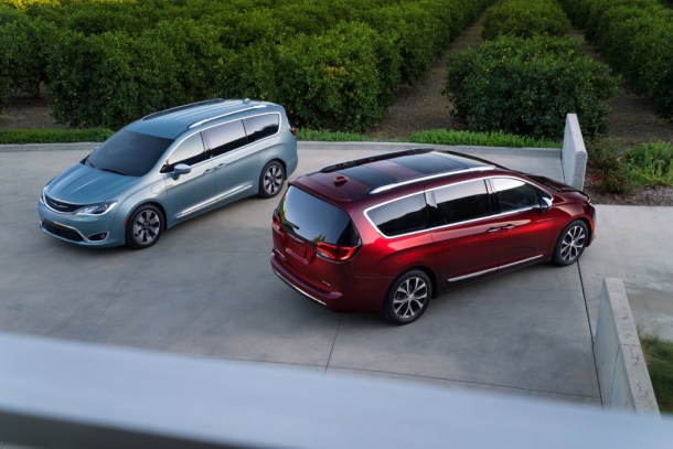 2017 Chrysler Pacifica Hybrid (left) and Chrysler Pacifica (right) - Image: FCA