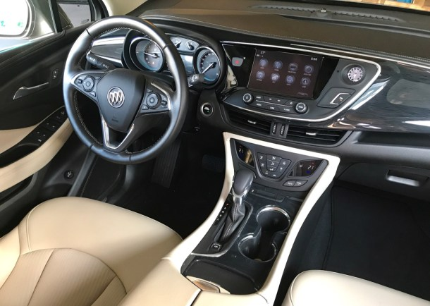 2017 Buick Envision Preferred AWD interior - Image: © Timothy Cain