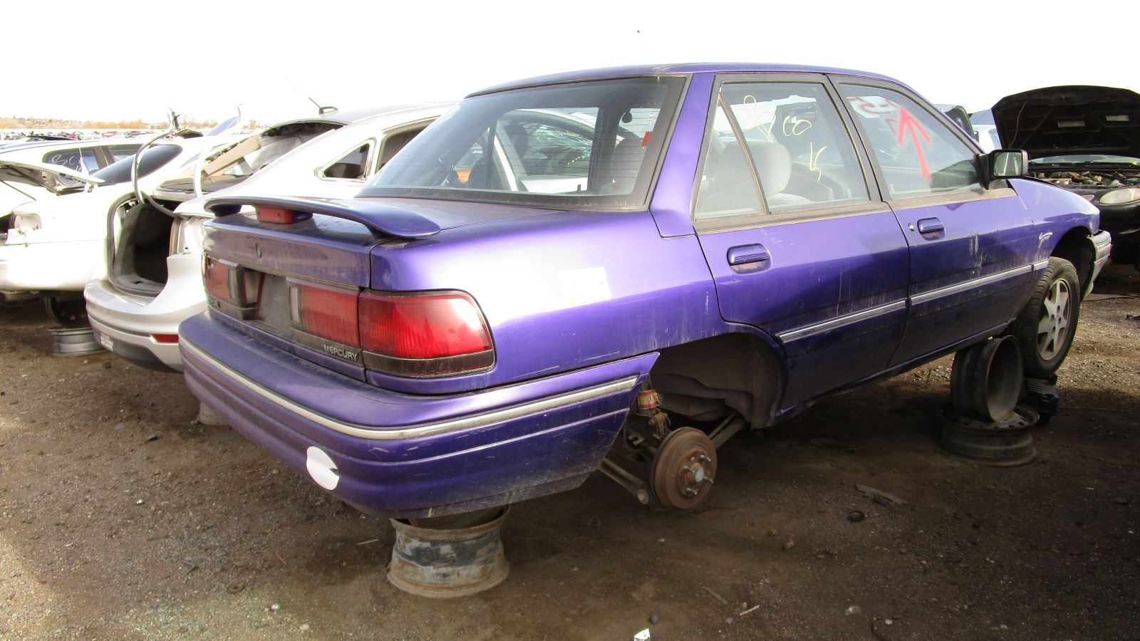 hight resolution of 1995 mercury tracer in colorado wrecking yard rh rear view 2017 murilee martin