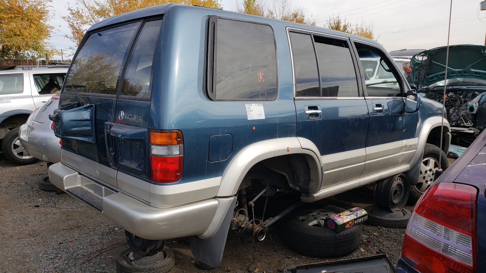 hight resolution of 1999 acura slx in colorado wrecking yard rh rear view 2018 murilee martin
