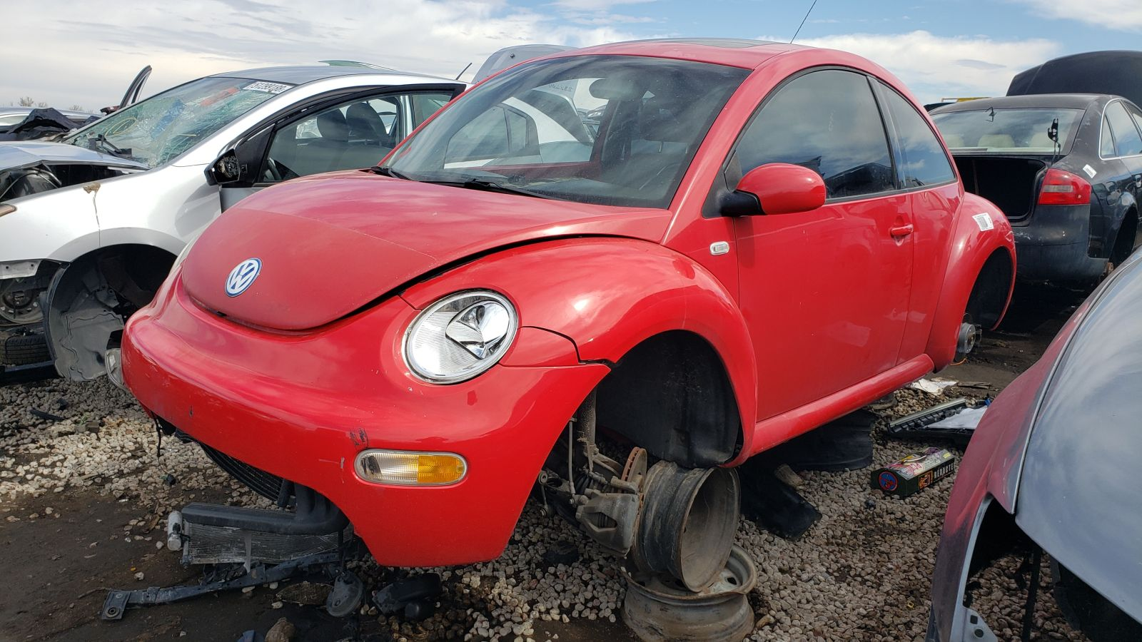 hight resolution of 2001 volkswagen new beetle in colorado wrecking yard lh front view 2019 murilee