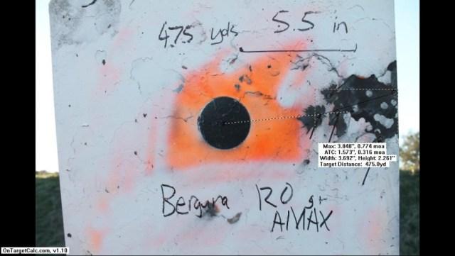 Bergara 120 AMAX - 475 yards