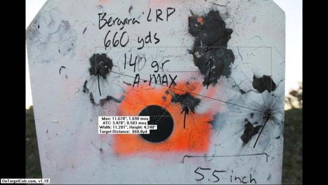 Bergara 140 AMAX - 660 yards
