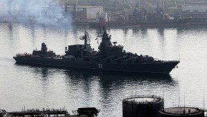 Pacific fleet warships head for Shanghai for Russian-Chinese drills commencing May 20, 2014. Click to enlarge