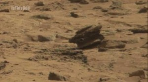 Another anomaly pictured on Mars. Alien artefact or vestige of an ancient human civilisation on the Red Planet? Click to enlarge