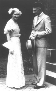 1930s wedding couple