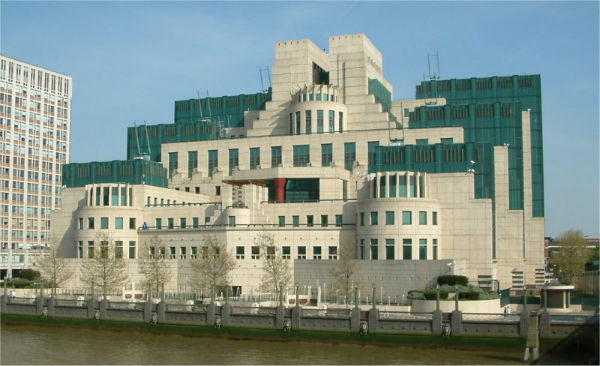 MI6 headquarters, London. Click to enlarge