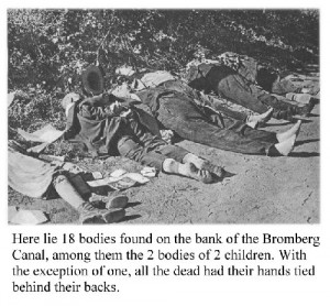 """The torture-mutilation-massacre at Bromberg occurred just 2 days after the liberating Germans arrived in western Prussia. The brutality of the mass killing gives an indication of the type of abuse that innocent Germans, trapped in Poland, had been suffering while Smigly """"looked the other way"""". Click to enlarge"""