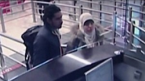 Still from CCTV footage of Hayat Boumeddiene in Turkey. Click to enlarge