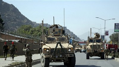 US troops working alongside NATO forces in Kabul.