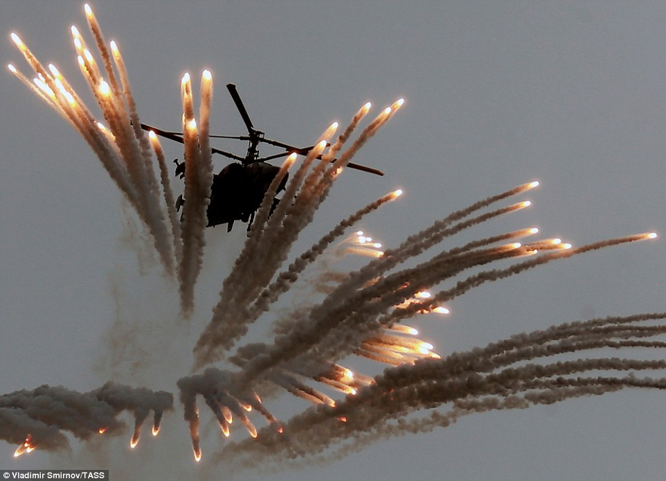 Kamov Ka 50 helicopter at the Aviadarts Air Show in Crimea. Click to enlarge