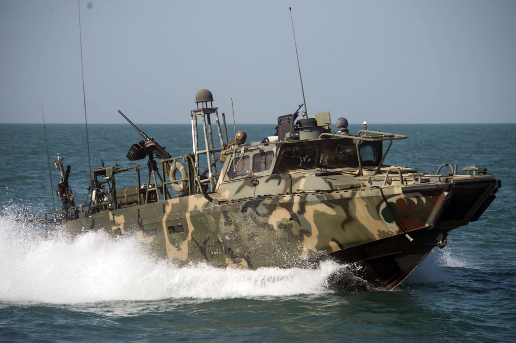 US Navy Riverine Command Boat. Click to enlarge