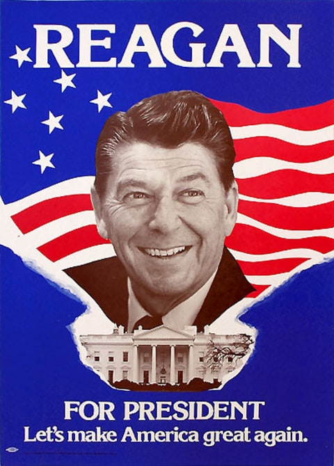 Ronald Reagan 1980 campaign poster. Click to enlarge