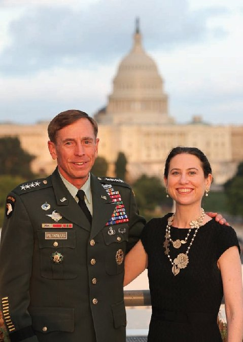 Gen. David Petraeus posing before the U.S. Capitol with Kimberly Kagan, founder and president of the Institute for the Study of War. (Photo credit: ISW's 2011 Annual Report). Click to enlarge