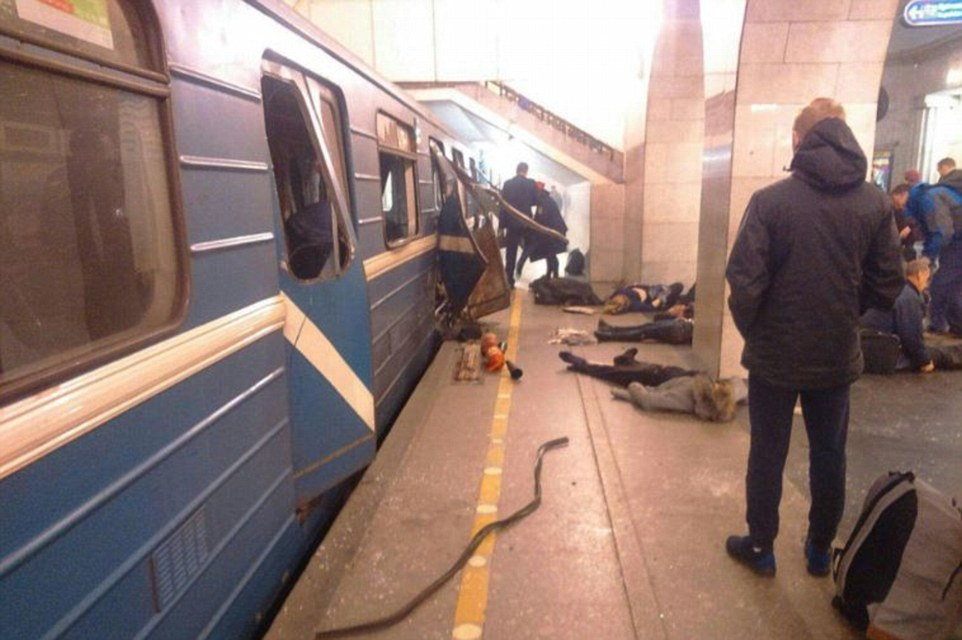 Aftermath of the St Petersburg Metro bombing. click to enlarge
