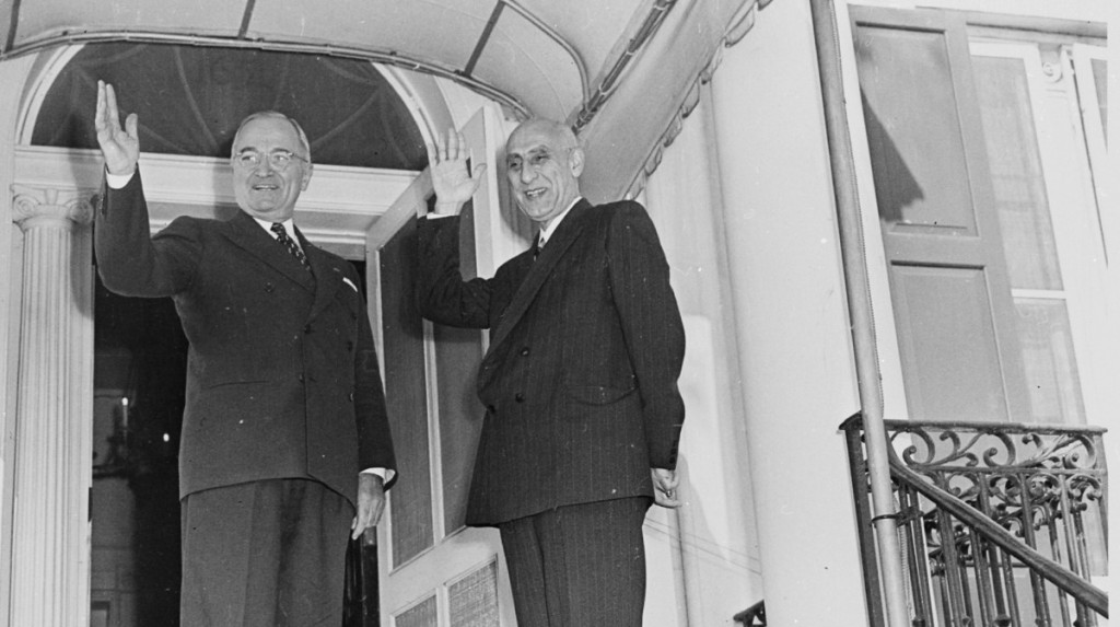 U.S. President Harry Truman, left, and Iranian Prime Minister Mohammad Mossadegh Oct. 23, 1951.. two years before a CIA orchestrated coup led to the ouster of the democratically elected Mossadegh. (Photo: Abbie Rowe/Wikimedia) Click to enlarge