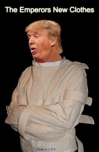 Trump in straitjacket
