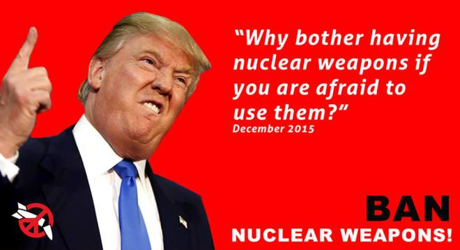 Trump nuclear weapons quote