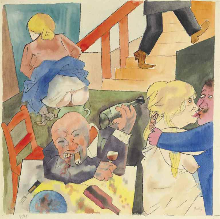 George Grosz, Orgie (1922). Click to enlarge