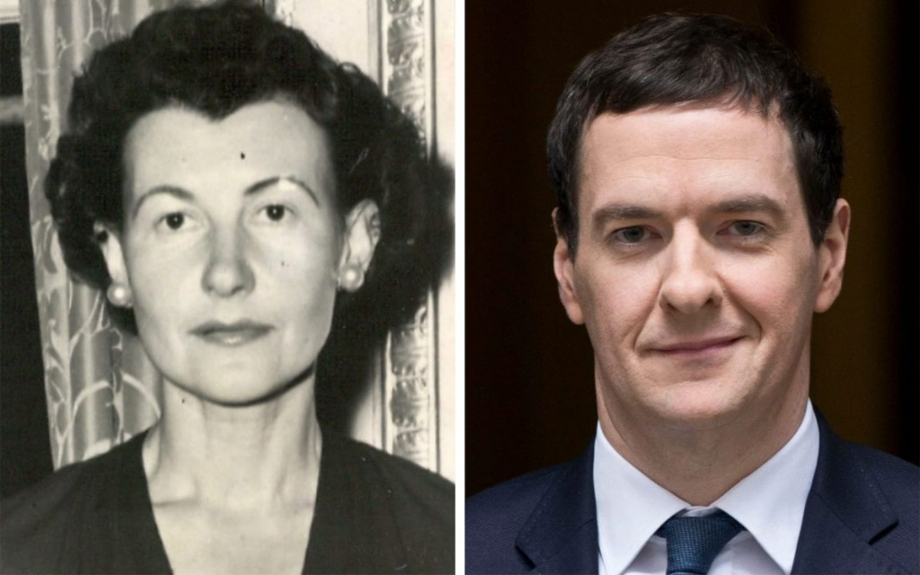 Clarisse Loxton-Peacock and grandson George Osborne. Click to enlarge