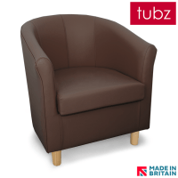 tub chair brown leather desk black chairs faux tuscany in dcb light gb tubz89