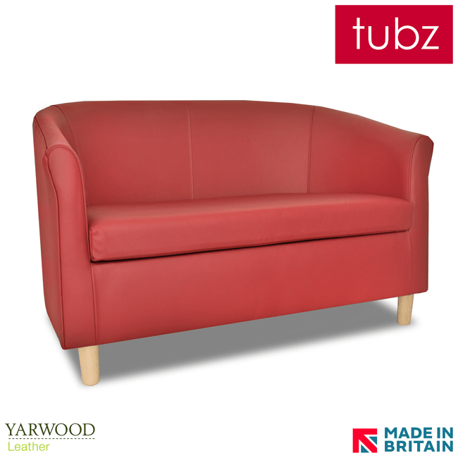 red leather two seater sofa sofas 90 wide 2 tubz tuscany tub in crib 5 yarwood style bright light gb loading zoom dark