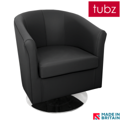 Tuscany 3 Seater Leather Sofa Solid Bamboo Arm Tray Swivel : Tub Chair In Black V70 Faux With ...