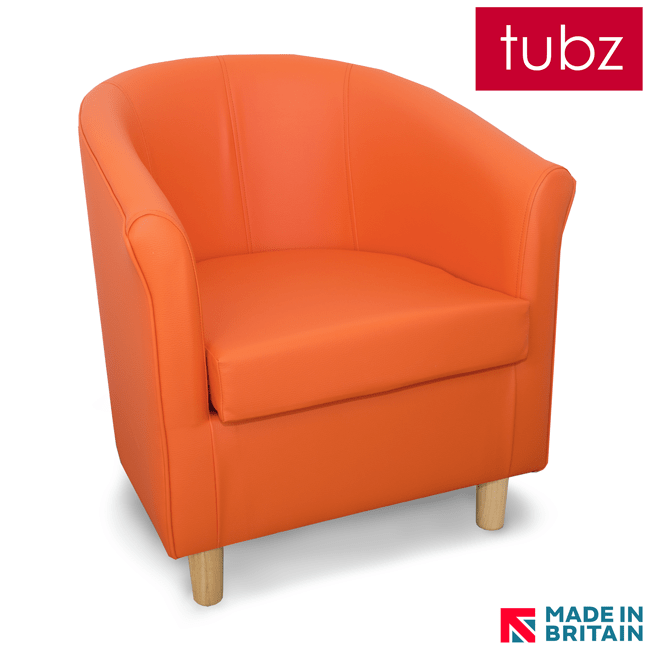 tuscany 3 seater leather sofa pomona tub chairs : chair in orange dor faux ...