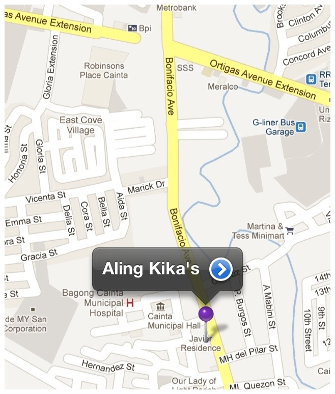 Map to Aling Kika's Food Products
