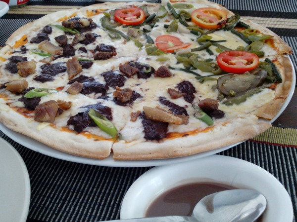 Dinuguan and Pinakbet Pizza