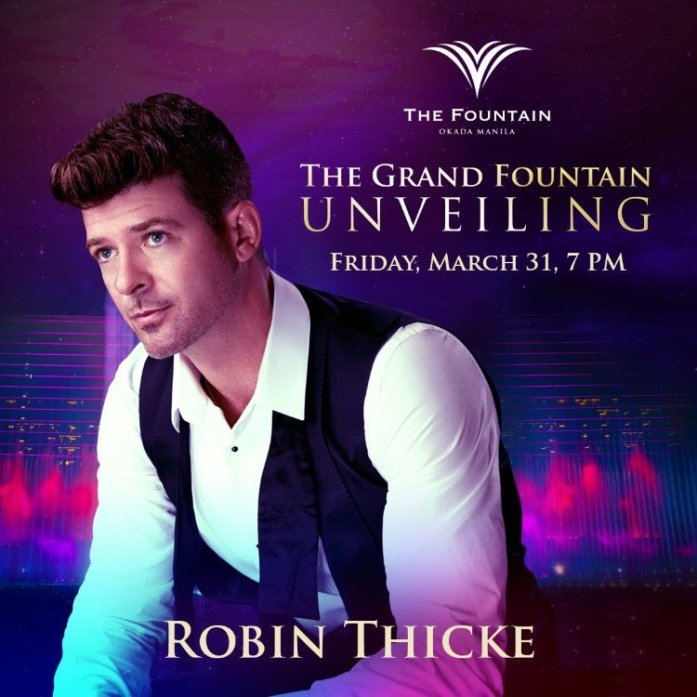 Okada Manila - The Fountain - Robin Thicke