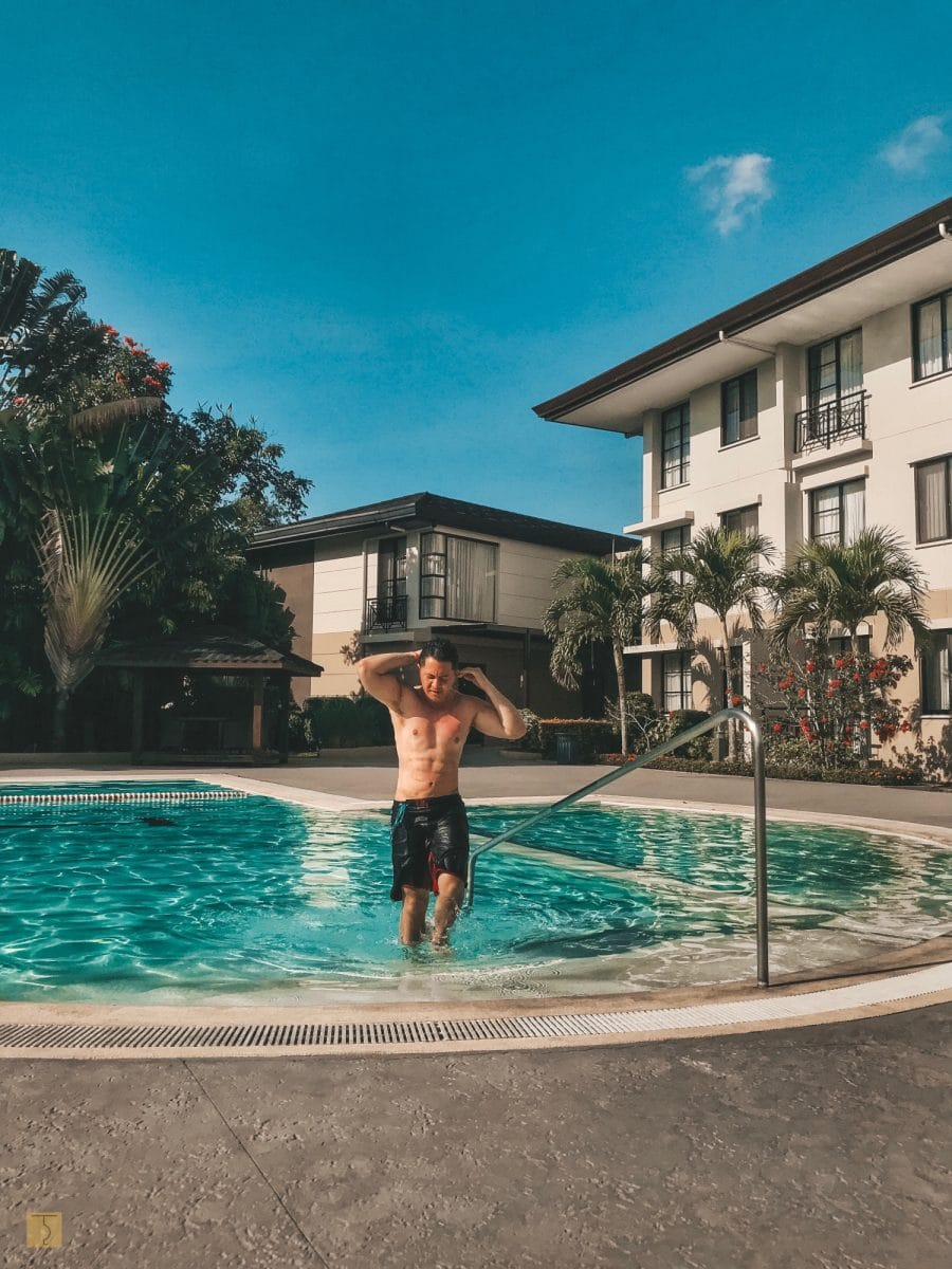 Chuckie Dreyfus - swimming in the pool - Lima Park Hotel Batangas