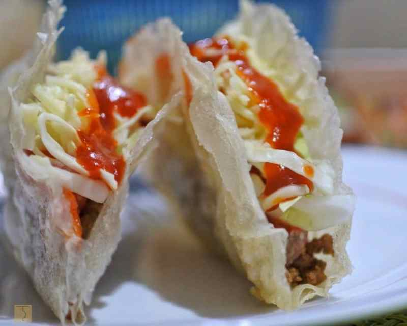 homemade taco and taco shells