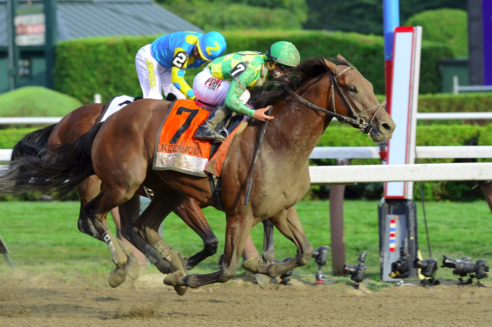 Keen Ice Defeats American Pharoah in the 2015 Travers Stakes (gr. I) - Photo by Coglianese Photos/Courtney Heeney