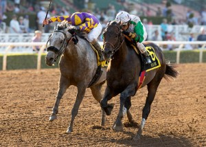 Wild Dude holds off Kobe's Back in the Santa Anita Sprint Championship Stakes (gr. I) at Santa Anita - © BENOIT PHOTO
