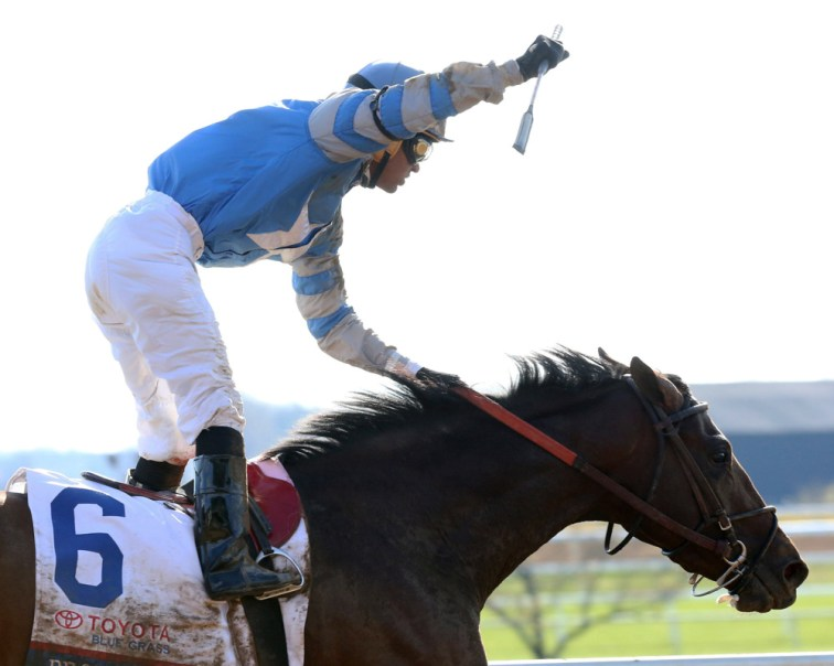 Brody's Cause winning the Blue Grass Stakes (gr. I) - Coady Photography/Keeneland Photo