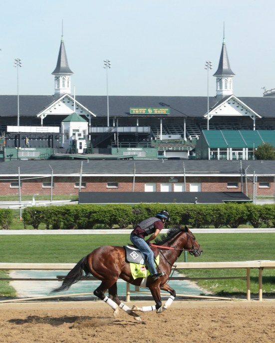 Brody's Cause galloping at Churchill Downs - Coady Photography/Churchill Downs
