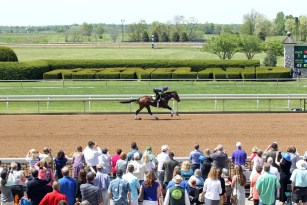 Nyquist works a mile at Keeneland - Coady Photography/Keeneland Photo