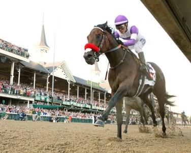 Nyquist winning the Kentucky Derby - Coady Photography