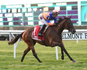 Sea Calisi winning the Sheepshead Bay Stakes (gr. II) at Belmont Park - Photo by NYRA/Coglianese Photos