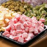 Different flavours of Turkish delight