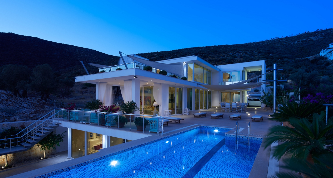 The Glass House 4 bedroom Villa in Kalkan with private