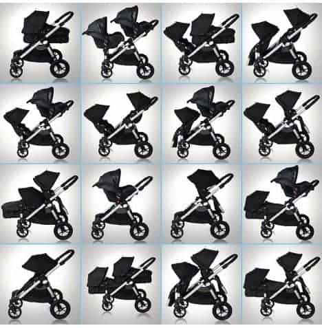 The best buggy for twins — the Baby Jogger City Select pushchair has 16 unique combinations