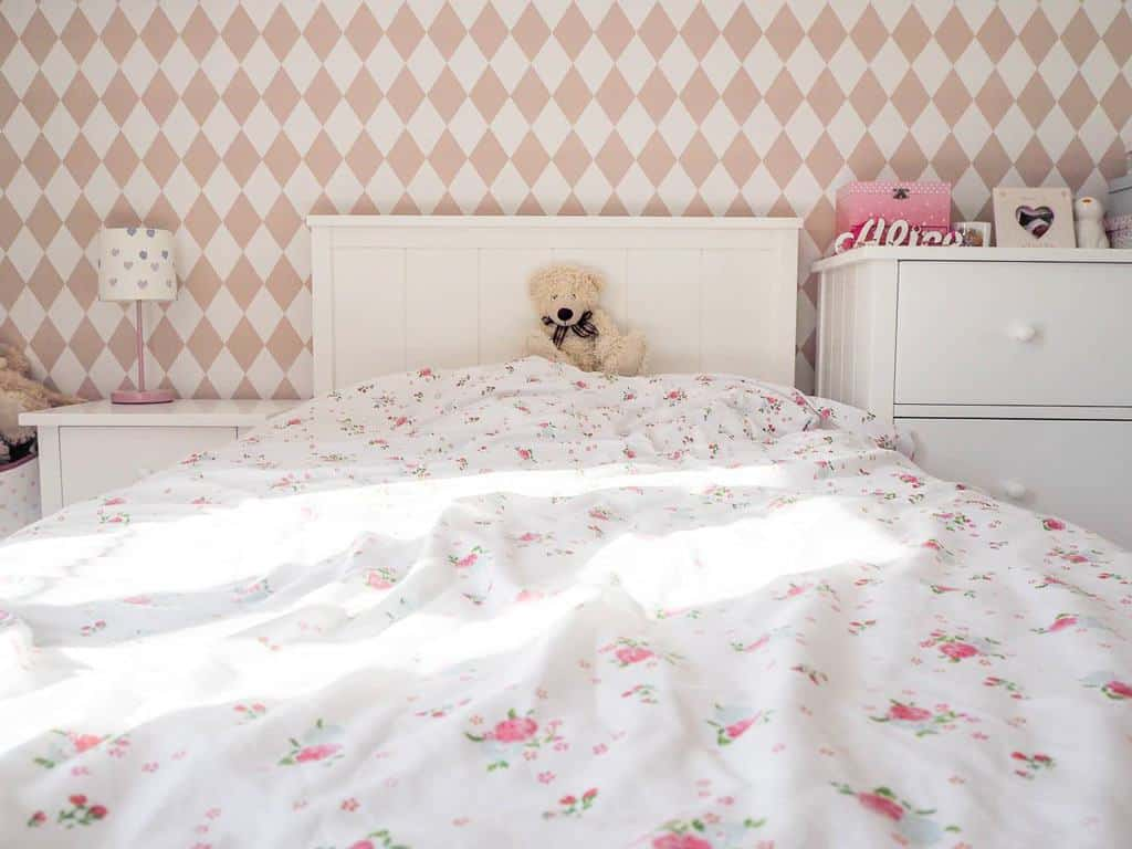 a little girls bedroom makeover from Home Etc