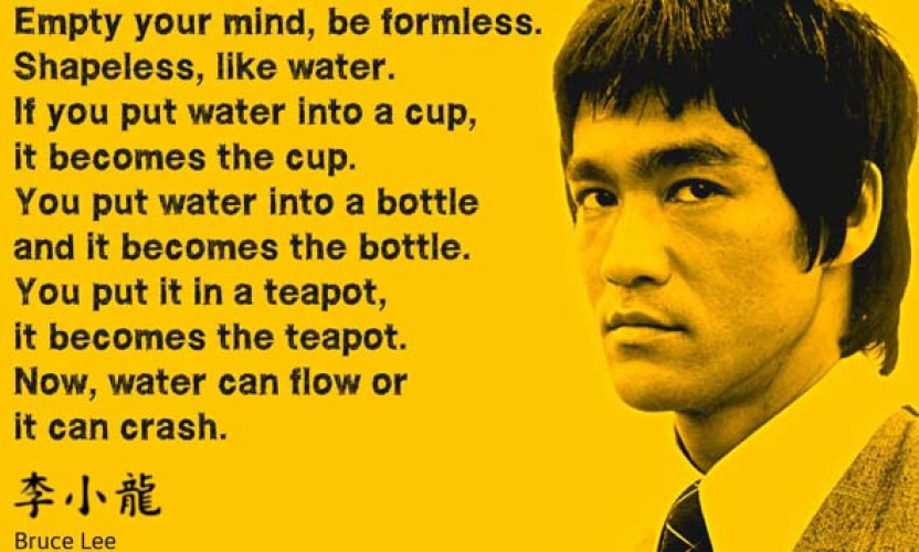 Image result for bruce lee water