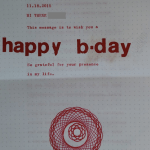 free hand typed letter birthday