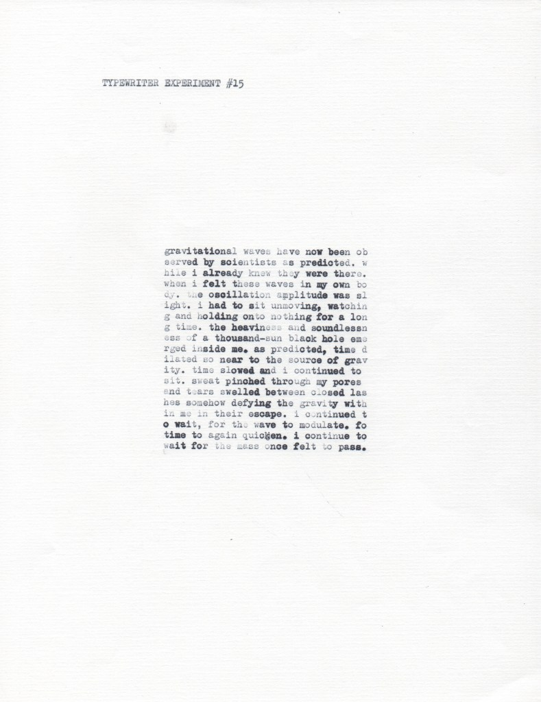 Type Bar Typewriter Experiment