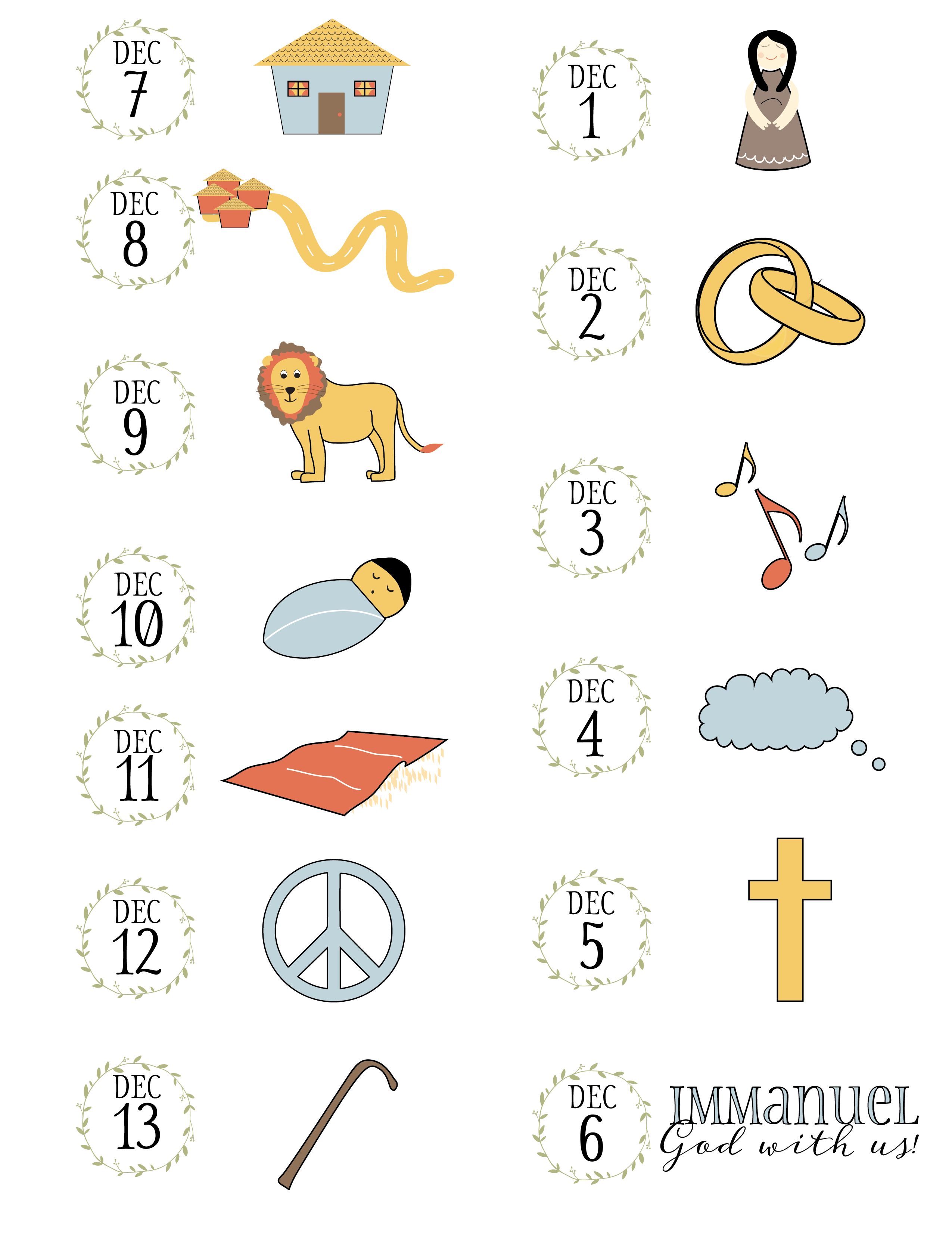 Free Advent Printables For Kids