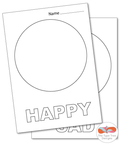 Happy Sad Preschool Worksheet. Happy. Best Free Printable
