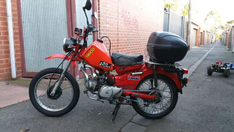 How to Mount a Honda XR250 Tank on a Ct110 Postie.